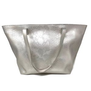 Silver Textured Tote